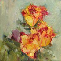 Roses by Sandra Rubin